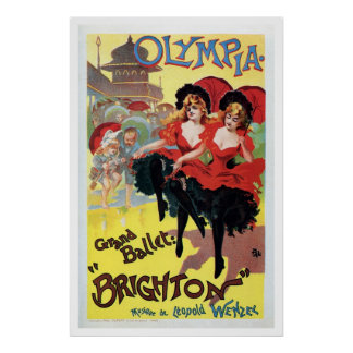 Vintage French can-can (cancan) dance Posters
