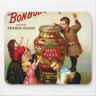 Vintage French Candy advertising illustration Mouse Pad