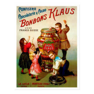 Vintage French Candy advertising illustration Postcard