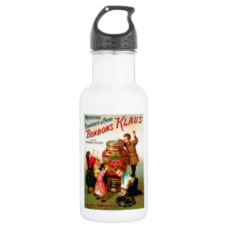 Vintage French Candy advertising illustration Stainless Steel Water Bottle