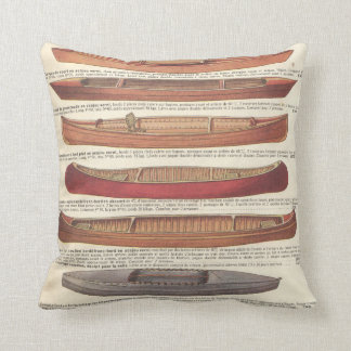 Vintage french canoe catalogue (1931) throw pillow