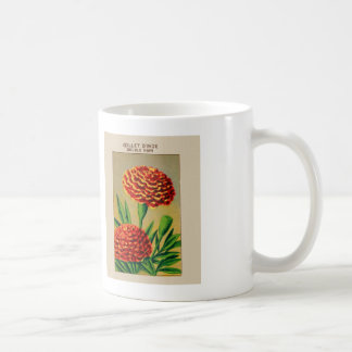 Vintage French Carnation Flower Seed Package Coffee Mug