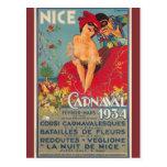 Vintage French Carnival Nice 1934 Postcard
