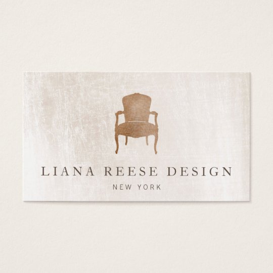 Vintage french chair brushed ivory marble business card zazzle vintage french chair brushed ivory marble business card reheart Gallery