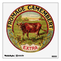 Vintage French Cheese & Dairy Cow Wall Decal