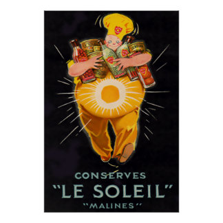 Vintage French Chef Poster Print