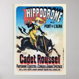 Vintage French Chéret Paris hippodrome ad Posters