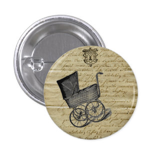 Vintage French Chic Baby Carriage Button