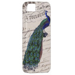 Vintage French Chic Blue Peacock iPhone 5 Covers