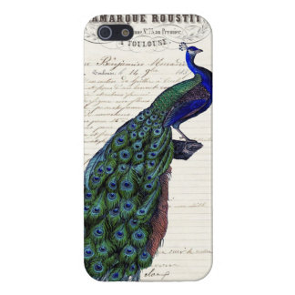 Vintage French Chic Blue Peacock iPhone 5 Case