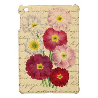 Vintage French Chic Botanical Romantic Primroses iPad Mini Covers