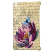 Vintage French Chic Botanicals Lotus & Butterfly iPad Mini Case