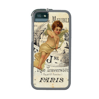 Vintage French Chic Cupid Paris Design iPhone 5 Cases