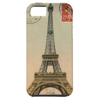 Vintage French Chic Eiffel Tower Paris Postcard iPhone 5 Cases