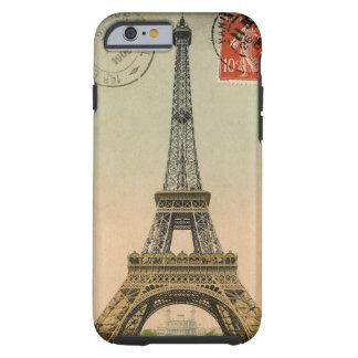 Vintage French Chic Eiffel Tower Paris Postcard Tough iPhone 6 Case