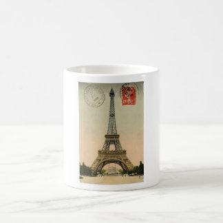 Vintage French Chic Eiffel Tower Paris Postcard Coffee Mug