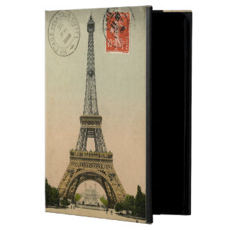 Vintage French Chic Eiffel Tower Paris Postcard Case For iPad Air