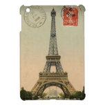 Vintage French Chic Eiffel Tower Paris Postcard iPad Mini Cases