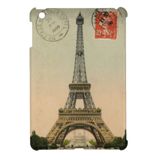 Vintage French Chic Eiffel Tower Paris Postcard iPad Mini Cases