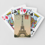 Vintage French Chic Eiffel Tower Paris Postcard Playing Cards