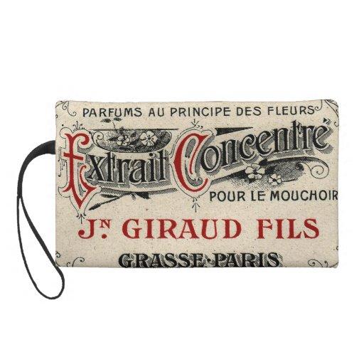 Vintage French Chic Fancy Perfume Wristlet Purse