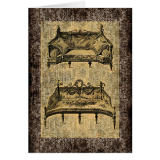 Vintage French Chic Furniture settees Card