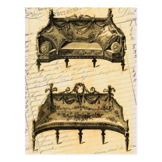 Vintage French Chic Furniture settees Post Cards