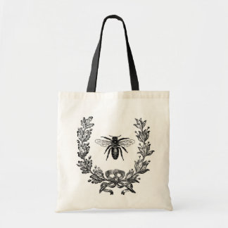 Vintage French Chic Honey Bee Budget Tote Bag