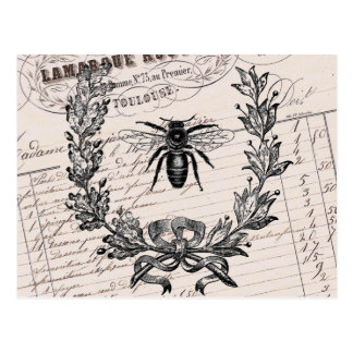 Vintage French Chic Honey Bee Post Cards