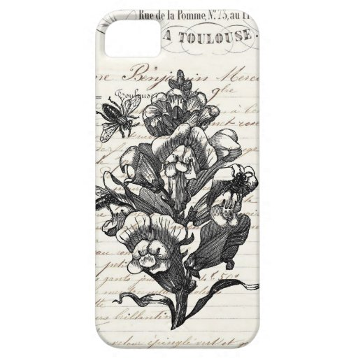 Vintage French Chic Honey Bees & Snapdragon iPhone 5 Cover