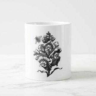 Vintage French Chic Honey Bees & Snapdragon Large Coffee Mug