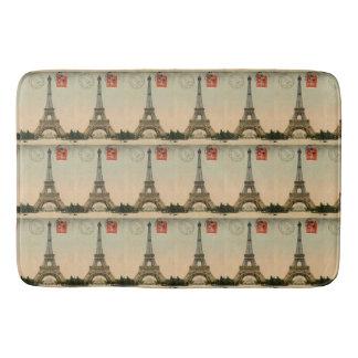 Vintage French Chic Paris Eiffel Tower Bathroom Mat