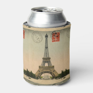 Vintage French Chic Paris Eiffel Tower Can Cooler