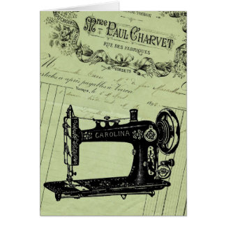 Vintage French Chic Sewing machine Card