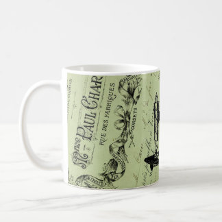 Vintage French Chic Sewing machine Coffee Mug