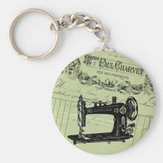 Vintage French Chic Sewing machine Keychain