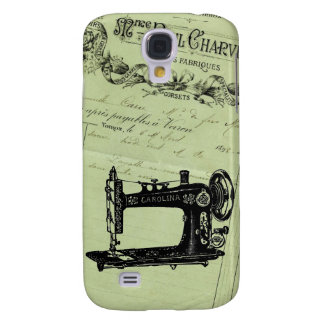 Vintage French Chic Sewing machine Samsung Galaxy S4 Cover