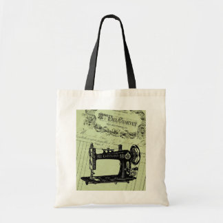 Vintage French Chic Sewing machine Tote Bag