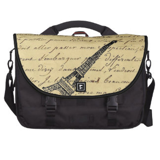 Vintage French Chic Steampunk Eiffel Tower Computer Bag