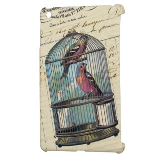 Vintage French Chic Victorian Birdcage Love Birds Case For The iPad Mini