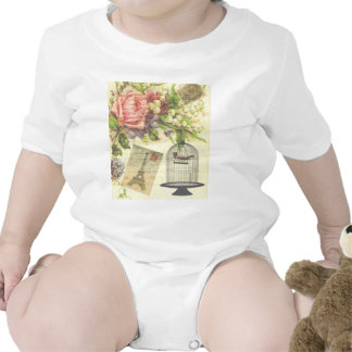 Vintage French Chic Victorian Birdcage T-shirts