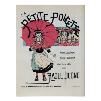Vintage French children's musical belle époque Poster
