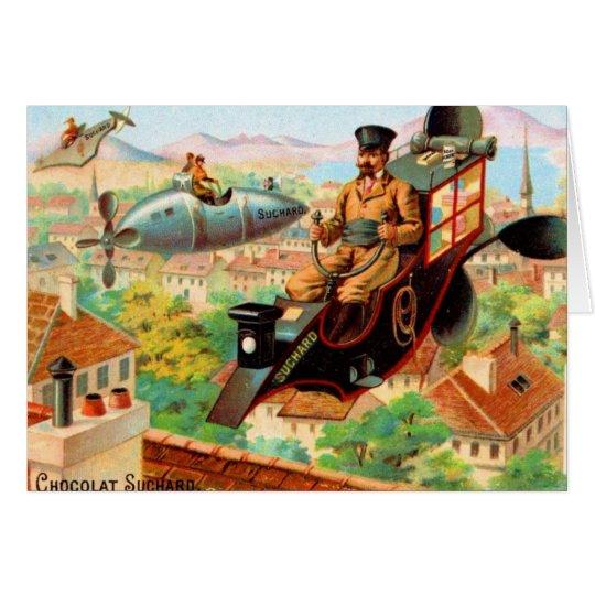 Vintage French Chocolat Suchard Flying Machines Card