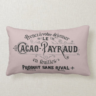 Vintage French Chocolate Ad Lumbar Pillow