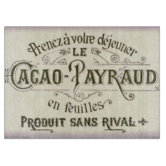 Vintage French Chocolate Advertisement Cutting Board