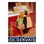 Vintage French Chocolate Advertising Poster Posters