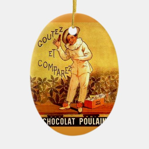 Vintage French Chocolate Clown Party Games Christmas Ornaments