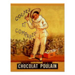 Vintage French Chocolate Clown Party Games Print