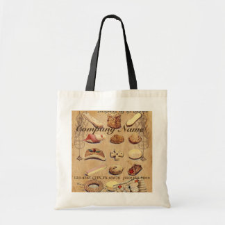 vintage french chocolate pastry cookies bakery budget tote bag