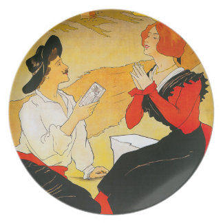 Vintage French Chocolate Plate
